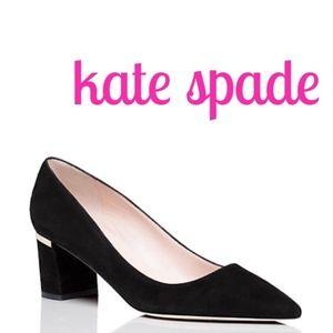 Kate Spade Milan Too Black Suede Pumps 8,5